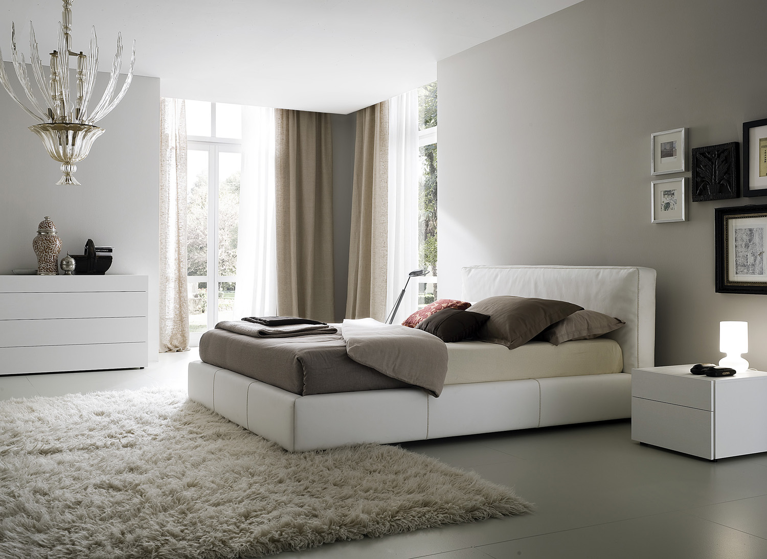 If you see a bedroom furnished with beautiful new furniture in a