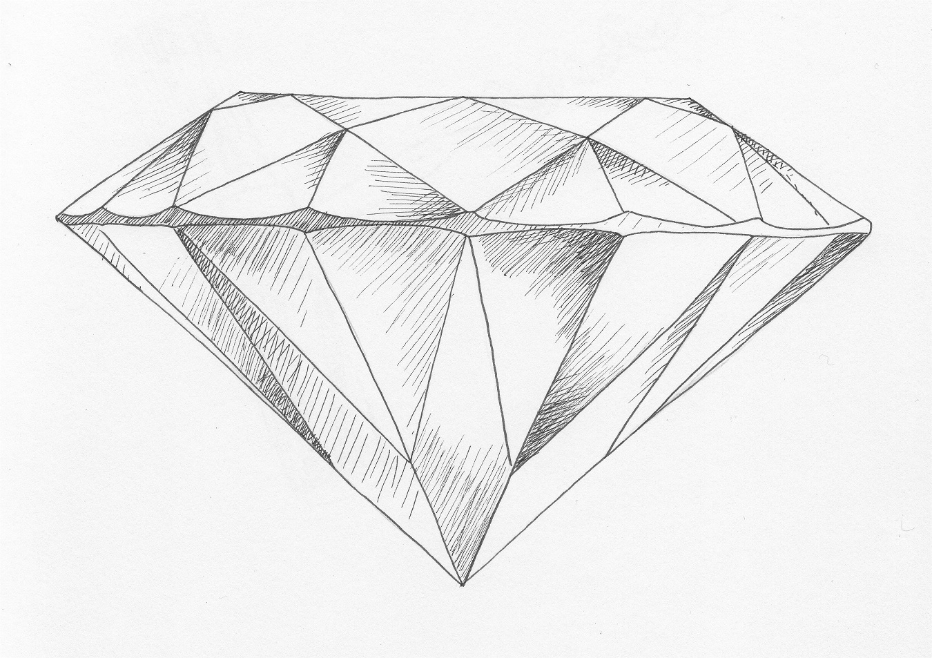 diamond pencil sketch - photo #7